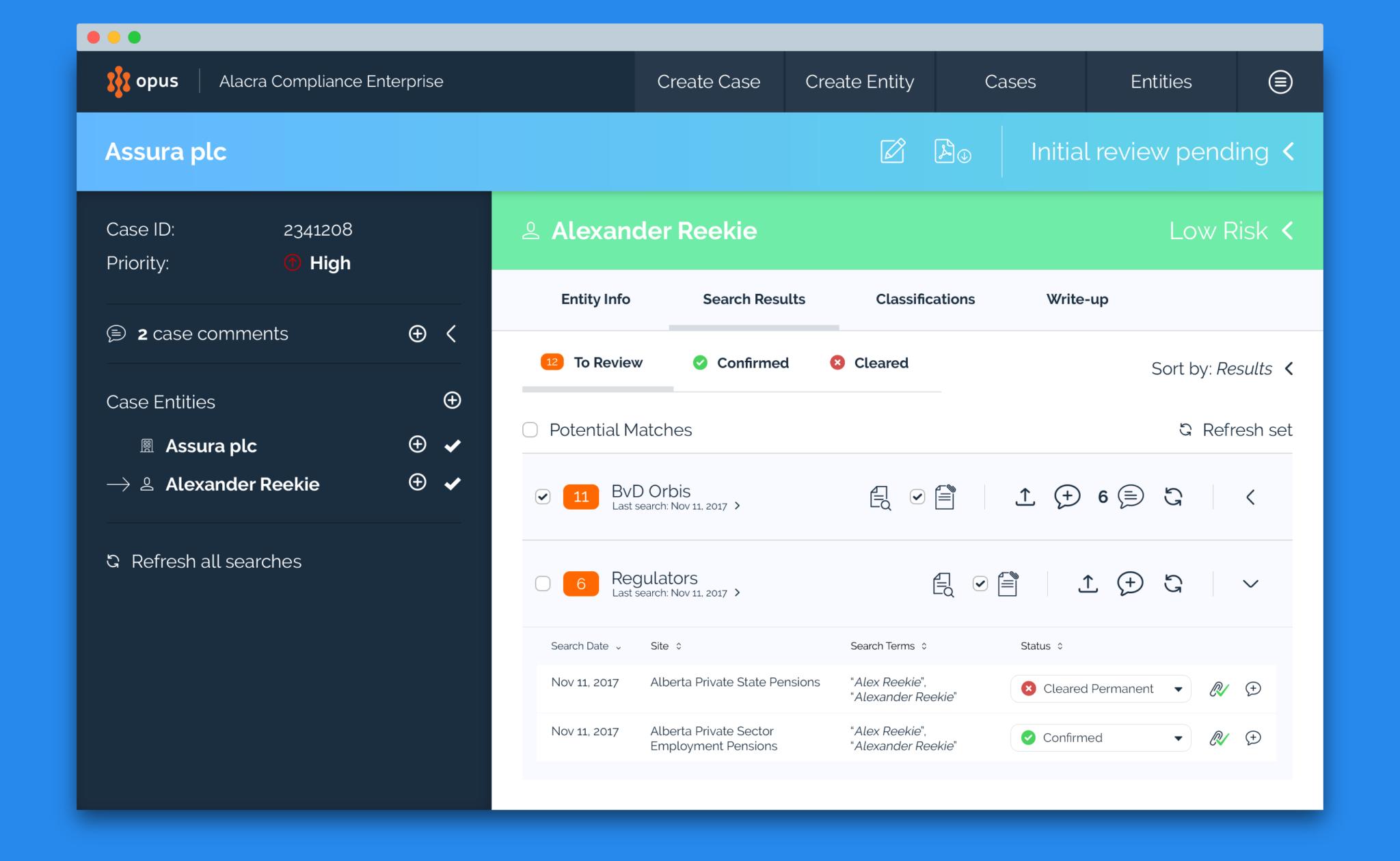 SaaS Compliance dashboard