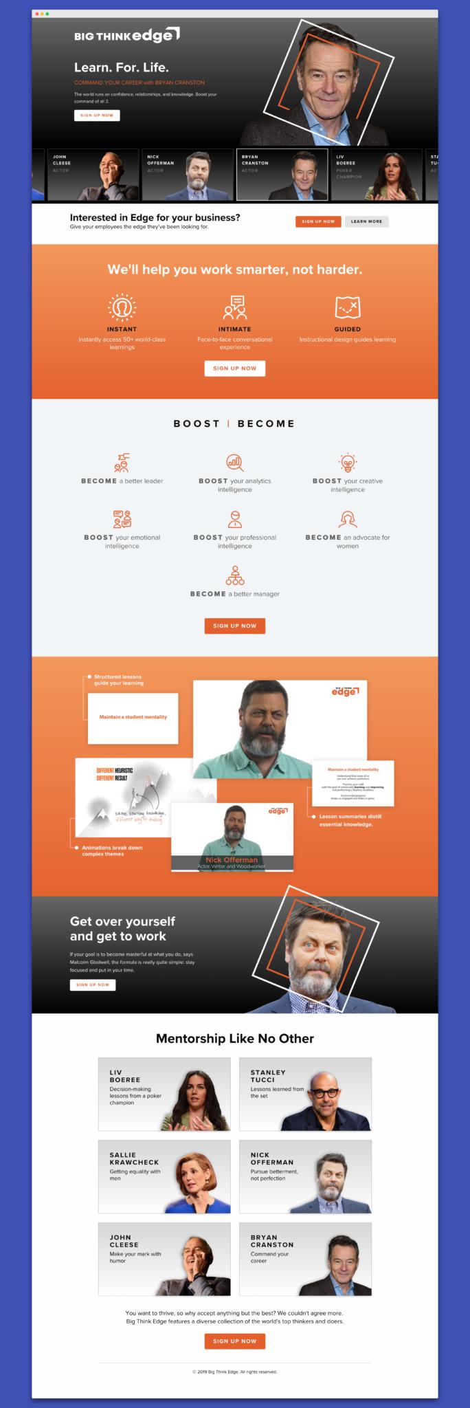 Big Think B2C redesign